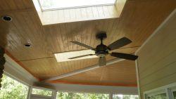 Skylights & bead-board ceiling