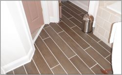 Wood-look tile floor
