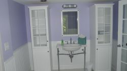 Master bath cabinetry