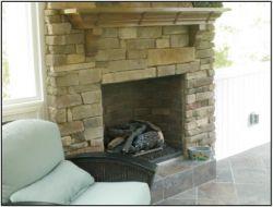 Porch fireplace Durham