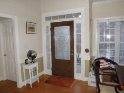Newly stained front door