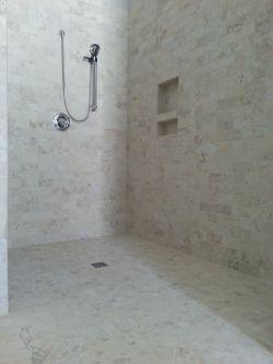 Roll-in ready shower