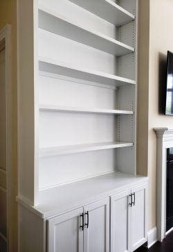 Custom shelves and cabinets by RWS