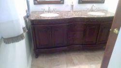 Double furniture vanity